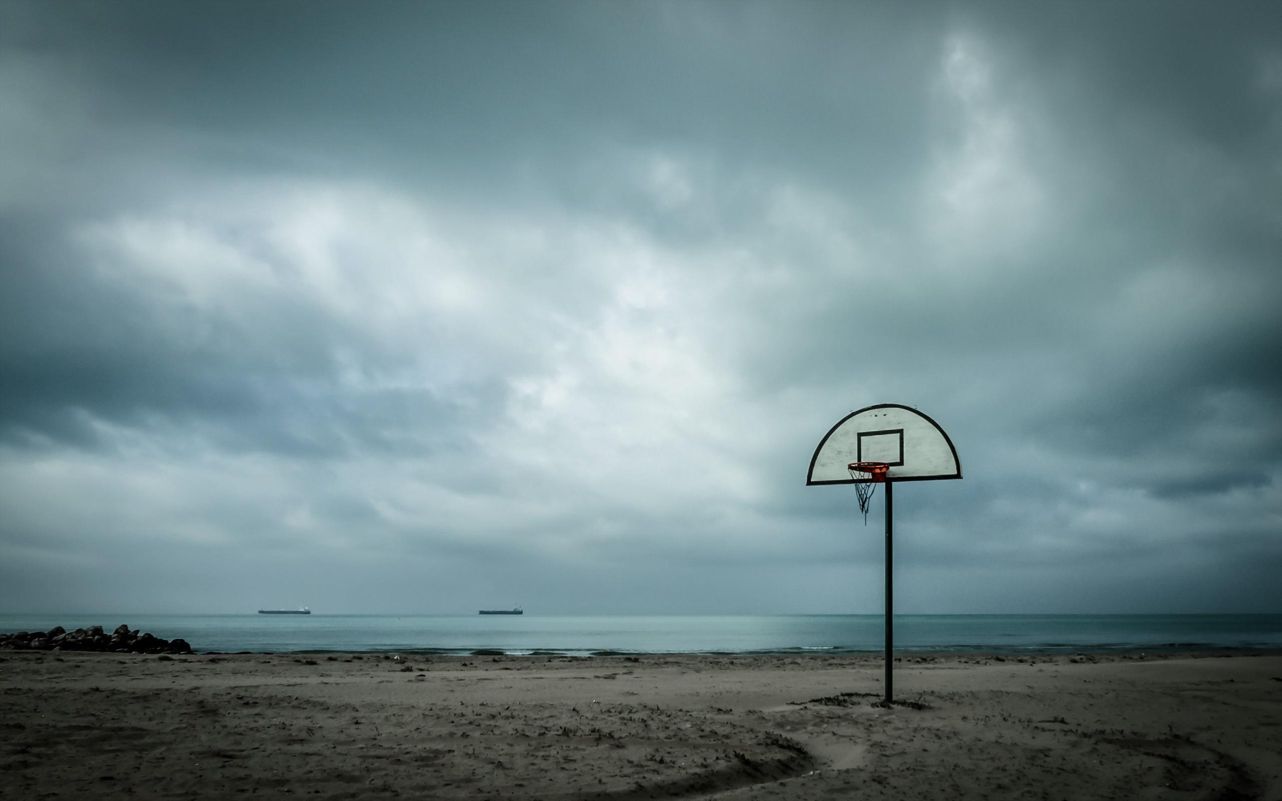 Basketball Court In Beach Wallpaper Power Of Sports