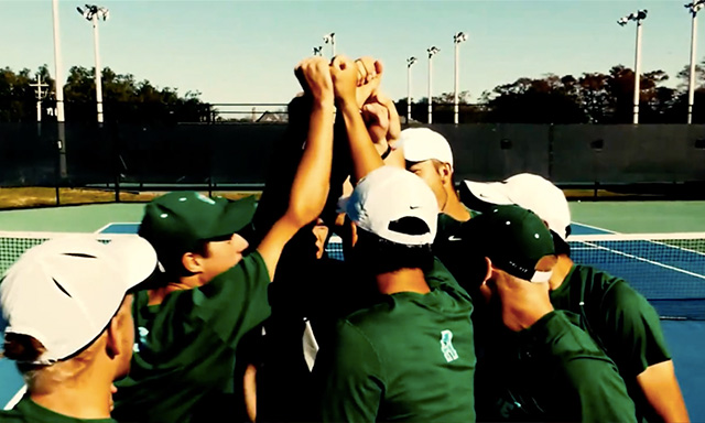 Tulane Athletics Tennis Huddle