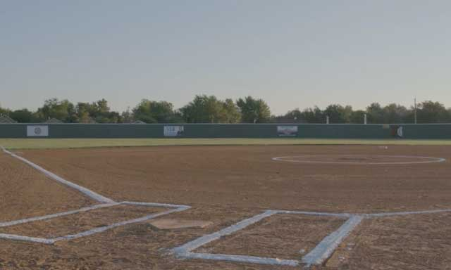 From behind home plate, a revitalized softball field built by Fields & Futures for Oklahoma City Public Schools
