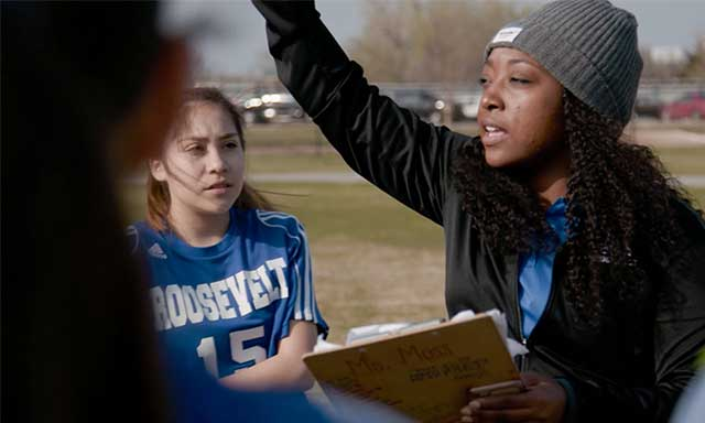 Coach Charis Moss, soccer coach at Roosevelt Middle School in Oklahoma City