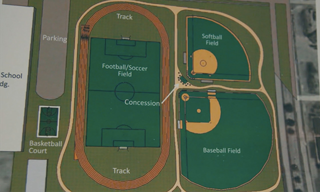 Field renovation plans created by Fields & Futures for Webster Middle School in Oklahoma City