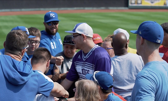 Kansas City athletes are shown participating in an event hosted by Royals Charities during Season 3, Show 3 of Power of Sports.