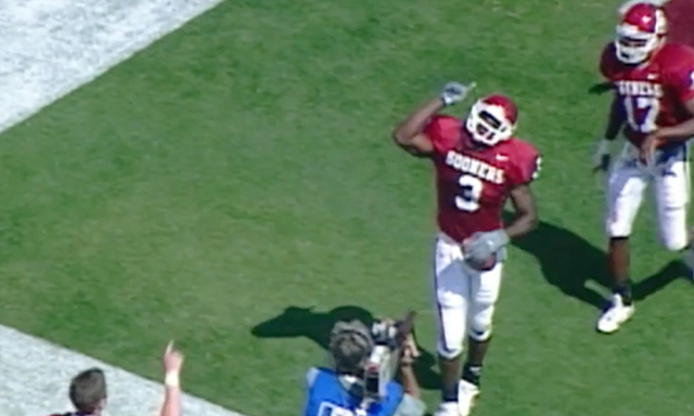 Josh Norman shown celebrating a touchdown during the Coaching Against the Odds segment of Season 3, Show 4 of the Power of Sports.