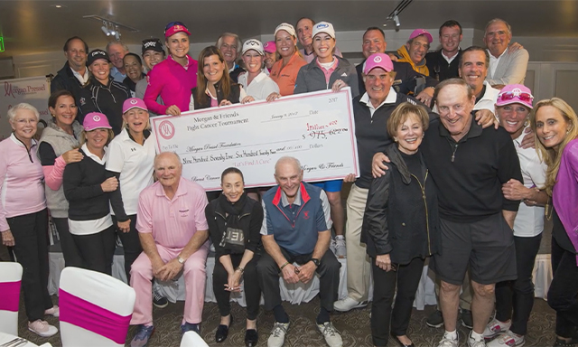 Morgan Pressel appears at one of her foundation's fundraising events.